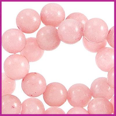 Jade rond ø4mm Zacht roze