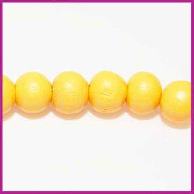 Houtenkraal rond ø8 mm oker geel