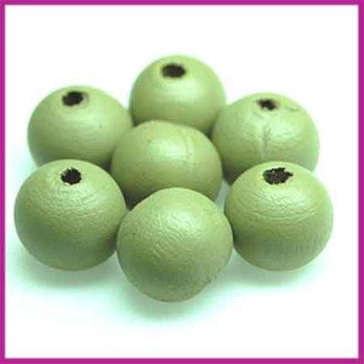Houtenkraal rond ø8 mm olijf groen