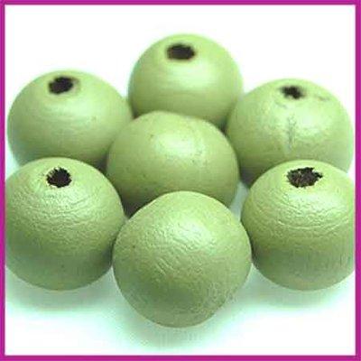 Houtenkraal rond ø11 mm olijf groen