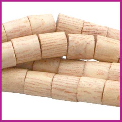 Houten kraal cilinder 5x5mm natuurlijke kleur Rosewood