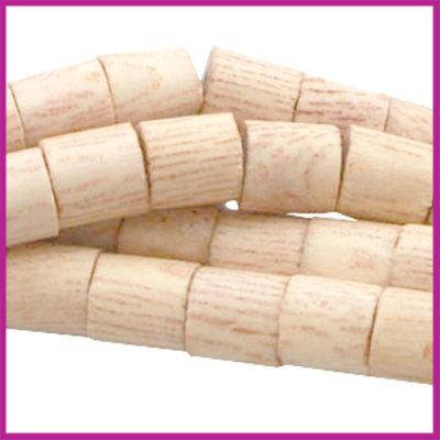 Houten kraal cilinder 6x6mm natuurlijke kleur Rosewood