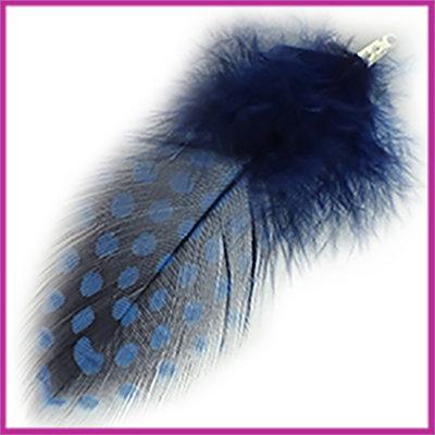 Veertje ca. 7 - 8cm met klemmetje Insignia blue zwart