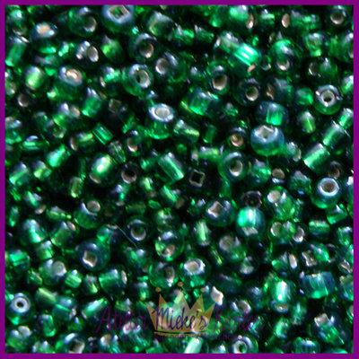 ToHo rocailles 11/0 Silver-Lined groen