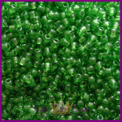 ToHo rocailles 11/0 Transparent donker groen