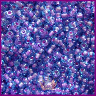 ToHo rocailles 11/0 Inside Colour aqua - paars
