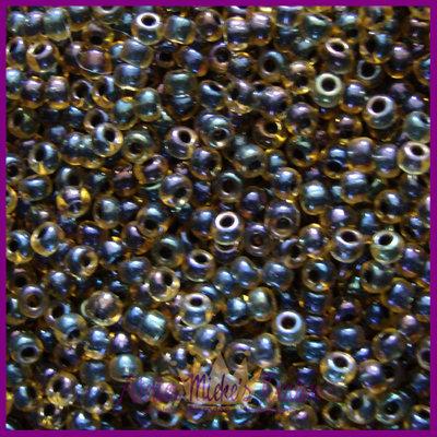 ToHo rocailles 8/0 Inside Colour Rainbow bruin - zwart