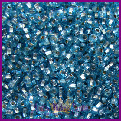 ToHo rocailles 8/0 Silver-Lined aqua