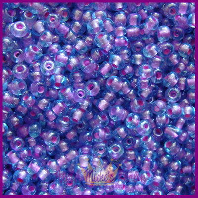 ToHo rocailles 8/0 Inside Colour aqua - paars