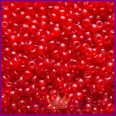 ToHo rocailles 8/0 Transparent rood