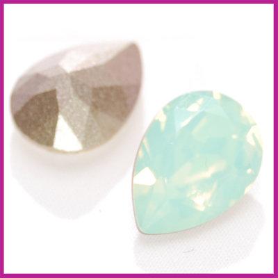 Swarovski druppel 4320 14x10mm Chrysolite opal