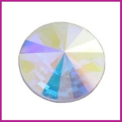 Swarovski Rivolli 2006 plaksteen Crystal AB 12 mm