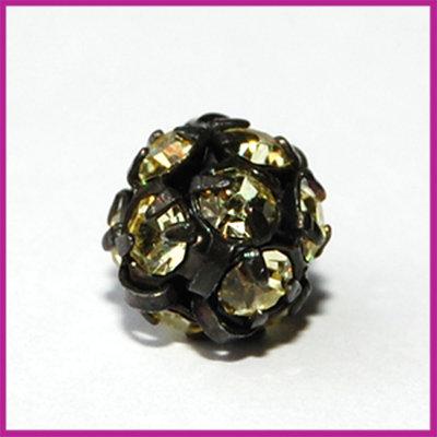 Strassbal zwart geel ø8 mm