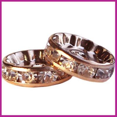 Strass rondel Rosegold Crystal 8 mm