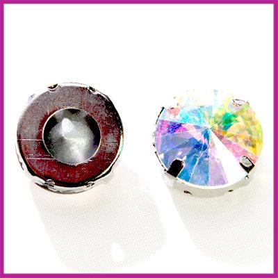 Metalen verdeler met Crystal AB strass