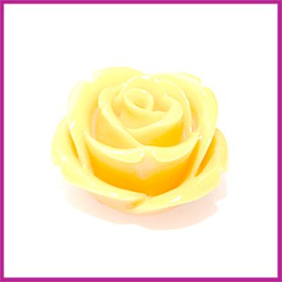 Natuursteen kraal roos 20x14mm Oker geel