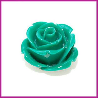 Natuursteen kraal roos 20x14mm Groen