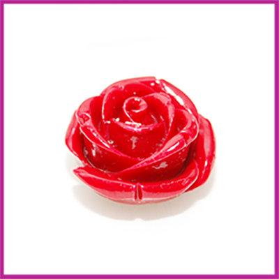 Natuursteen kraal roos 20x14mm Rood
