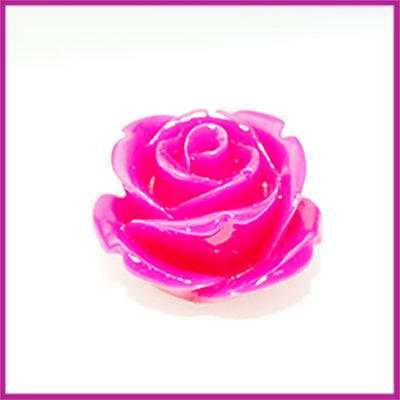 Natuursteen kraal roos 20x14mm Fuchsia