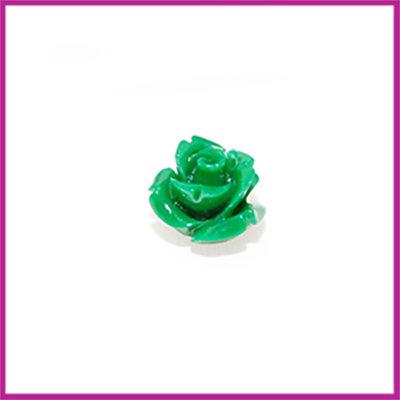 Natuursteen kraal roos 10x9mm Groen