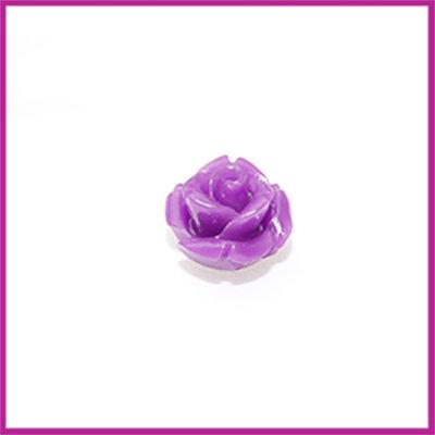 Natuursteen kraal roos 10x9mm Paars