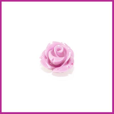 Natuursteen kraal roos 10x9mm Lila