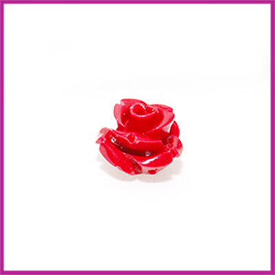 Natuursteen kraal roos 10x9mm Rood