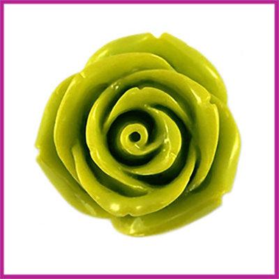 Kunststof kraal roos 22mm Lime groen