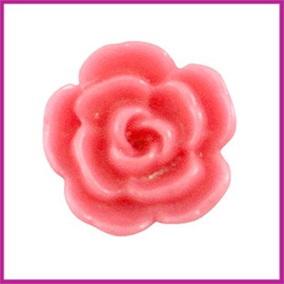 Kunststof kraal roos 10mm Raspberry rose