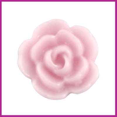 Kunststof kraal roos 10mm Pale pink