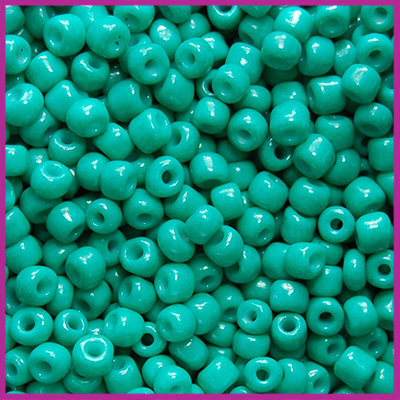 Rocailles 6/0 (4mm) Dark green turquoise