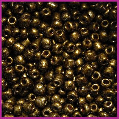Rocailles 6/0 (4mm) Metallic donker antiek brons