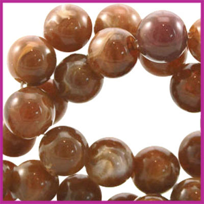 Perla beads rond ø6mm Smoked topaz