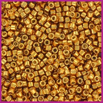 Miyuki Delica 11/0 Duracoat Galvanized Yellow Gold