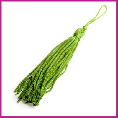 Kwastje satijndraad ca. 75mm groen