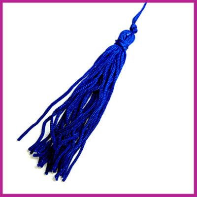 Kwastje satijndraad ca. 75mm Delfts blauw