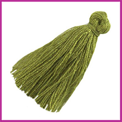 Kwastje small ca. 20mm Olivine groen