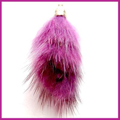 Kwastje pluis ca.40x15mm Purple
