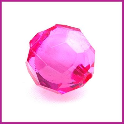 Kunststofkraal roze facet