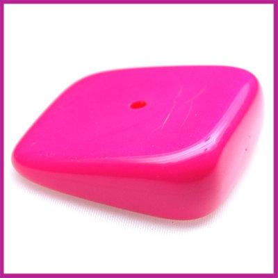 Kunststofkraal schuin vierkant zuurstok roze
