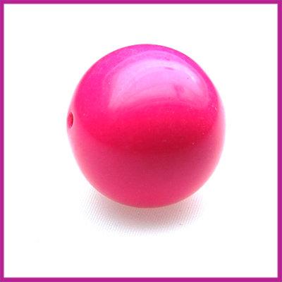 Kunststofkraal bal zuurstok roze