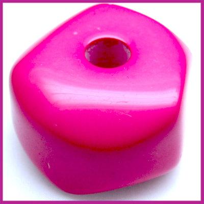 Kunststofkraal 6-kant groot zuurstok roze
