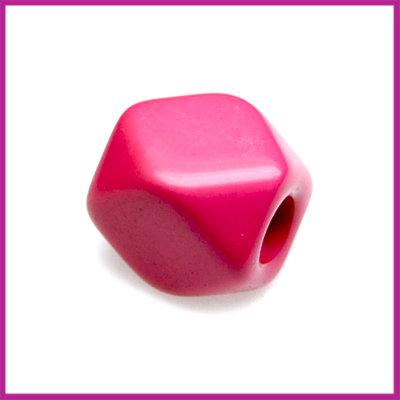 Kunststofkraal kubus middel zuurstok roze