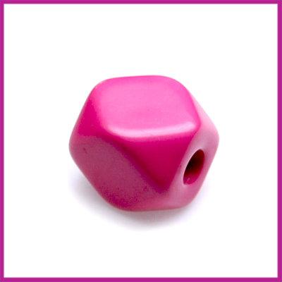 Kunststofkraal kubus klein zuurstok roze