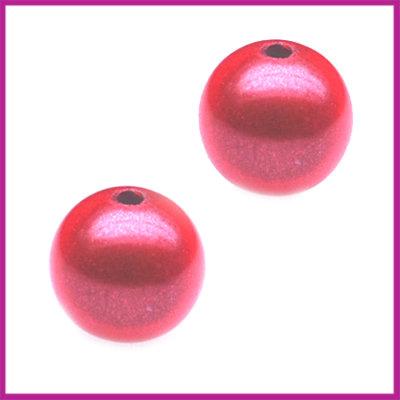 Kunststofkraal rond miracle perzik roze