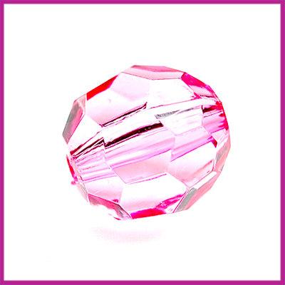 Kunststof facetkraal middel licht roze