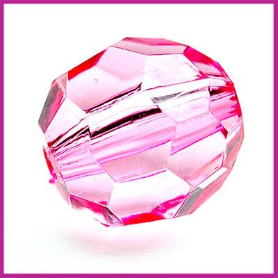 Kunststof facetkraal groot licht roze