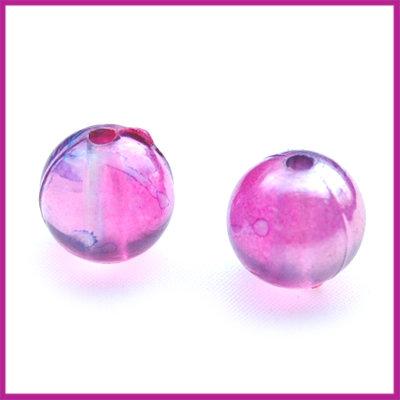 Kunststofkraal balletje ø10mm roze AB