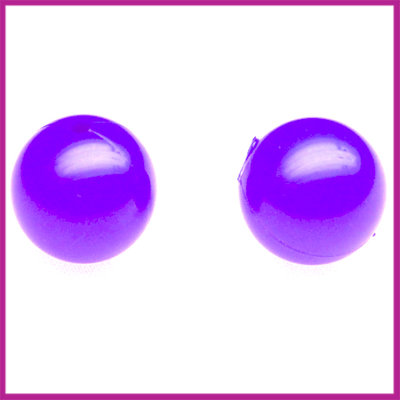 Kunststofkraal rond ø10mm diep paars