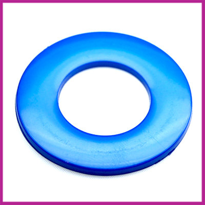 Kunststof ring plat blauw